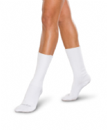 Adult Seamless Sensitivity Socks - Crew - WHITE - (Smartknit)